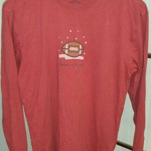 """Life is Good """"Best in Snow"""" Football Red Shirt"""